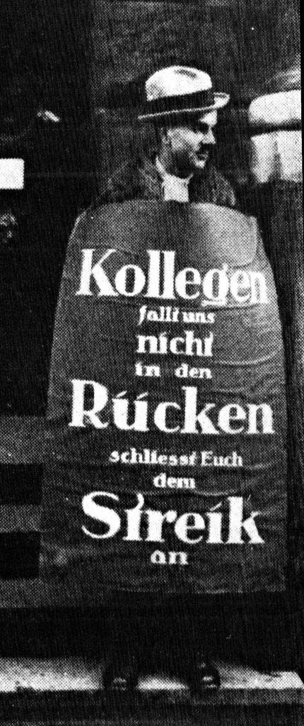 """Zeit der Arbeitskämpfe / Quelle: """"Der Arbeiterfotograf"""" 02.1929"""