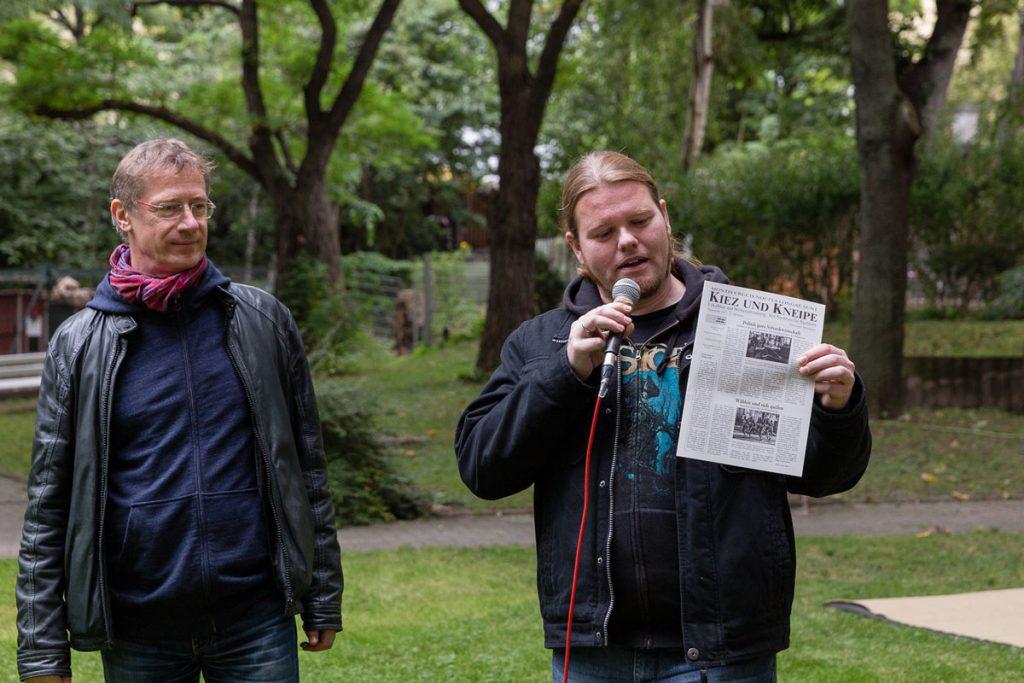 Das Große Pressefest der Kleinen mit Redakteur Robert S. Plaul | Foto: Giovanni Lo Curto