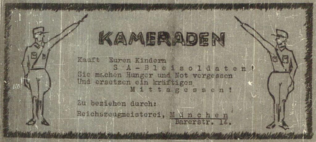 Satirischen Werbeanzeige | Foto: Der Kamerad, angebliche SA-Zeitung von 1932