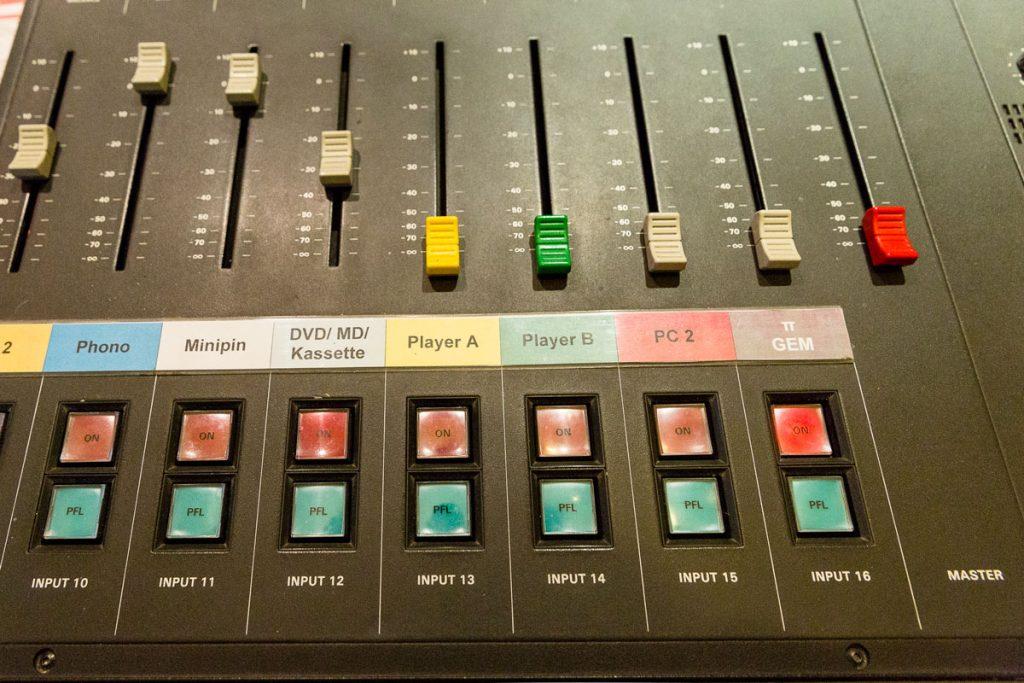 Mischpult der Radiomacher im StudioAnsage | Foto: Giovanni Lo Curto