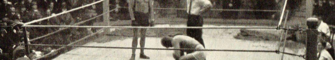 """Boxkampf in den 20er Jahren   Quelle: """"Von der Neuen Welt zum Olympiastadion"""" Broschüre 1936"""