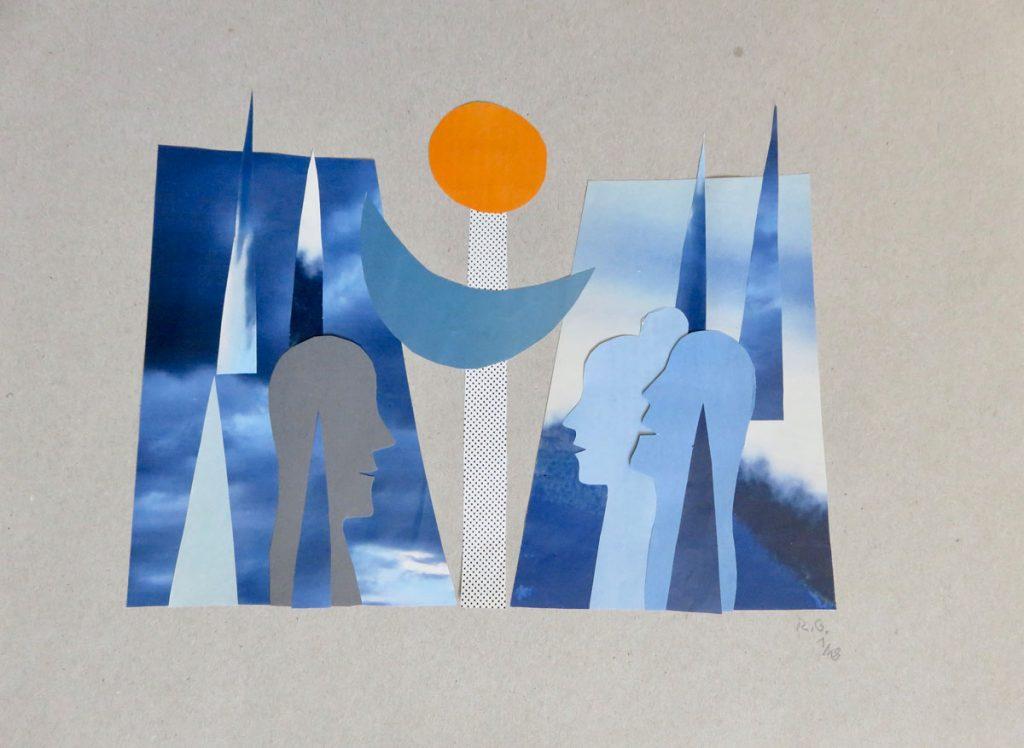 Grafiken und Collagen von Regine Gebhard Bild: © Regine Gebhard