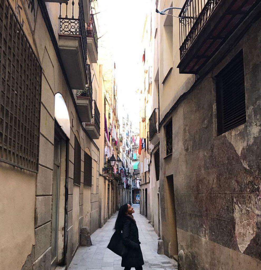 Tieghisti Habtom unterwegs in Barcelona | Foto: privat