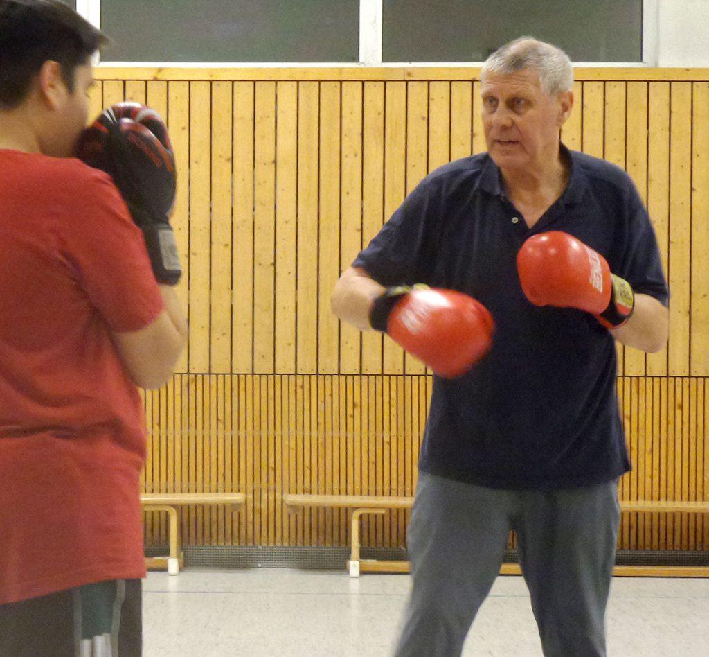 Box-Training mit Rudy Klausmeyer | Foto: Uli Pschewoschny