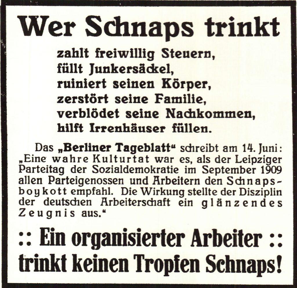 | Quelle: Vorwärts 1909