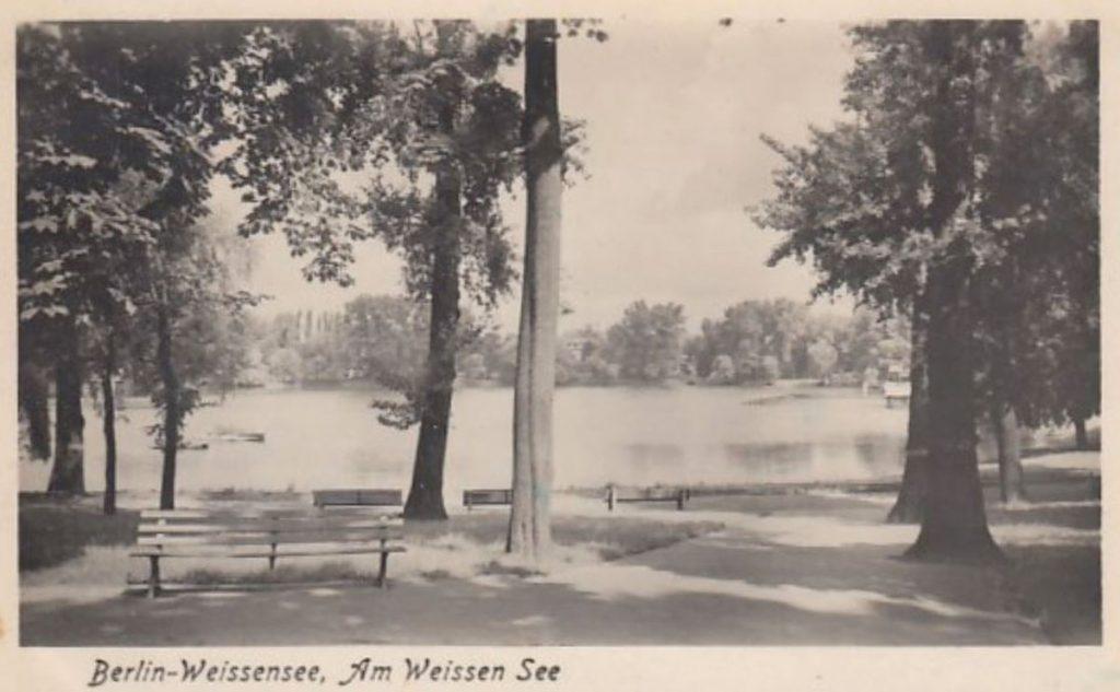 Der Weiße See in Berlin | Bild: Historische Postkarte von 1955