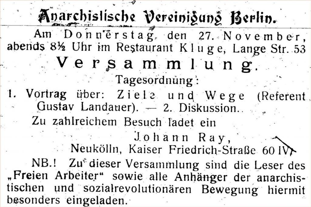 Quelle: Archiv der Gustav Landauer Denkmalinitiative