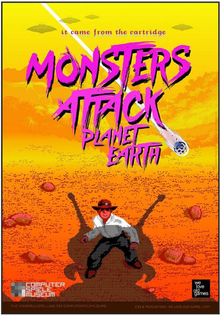 """Alles zum Thema Monster - Bis zum 26. August wird im Computerspielemuseum die Sonderausstellung """"Monster Attack Planet Earth"""" gezeigt."""