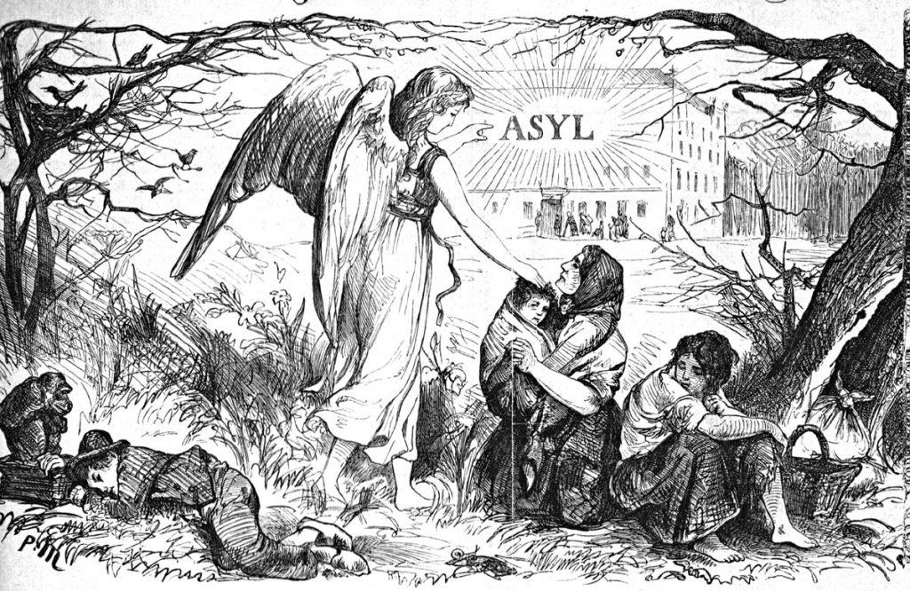 Titelbild der Zeitung des Asylvereins 1868 | Quelle: Asylvereinzeitung