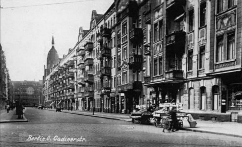Kadiner straße, ca. 1910 | Quelle: Historische Postkarte
