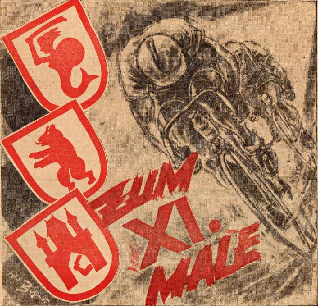 Radrennen : Friedensfahrt (Titelbild)   Quelle: Illustrierter Radsport (Zeitschrift)