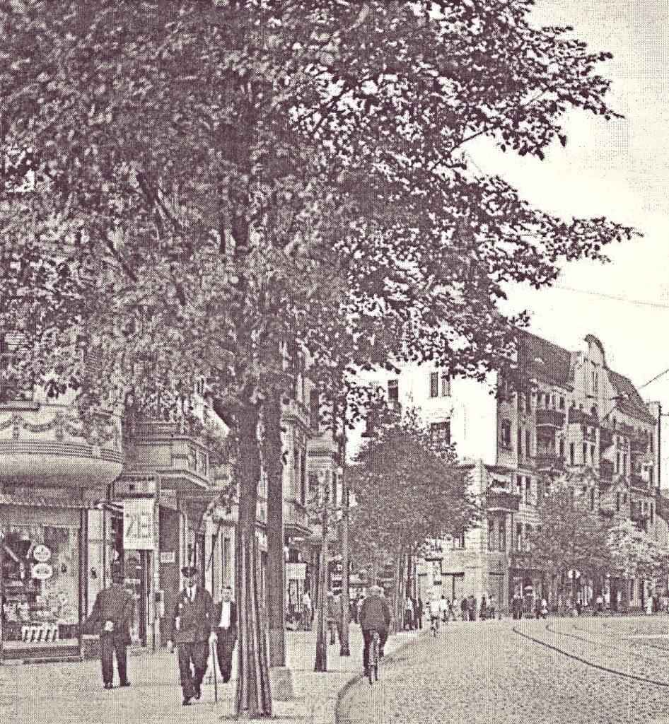 Die Boxhagener Straße in Berlin-Friedrichshain | Quelle: Postkarte