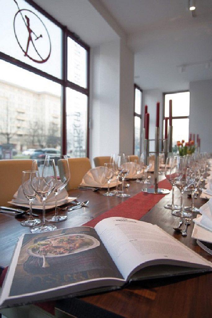 Innenräume der Kochschule Berlin in der Karl-Marx-Allee   Foto: Kochschule Berlin