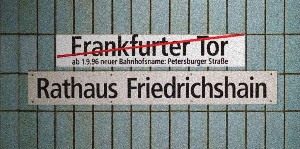 U-Bhf-Frankfurte Tor, Petersburger Straße oder Rathaus friedrichshain? | Photo: privat