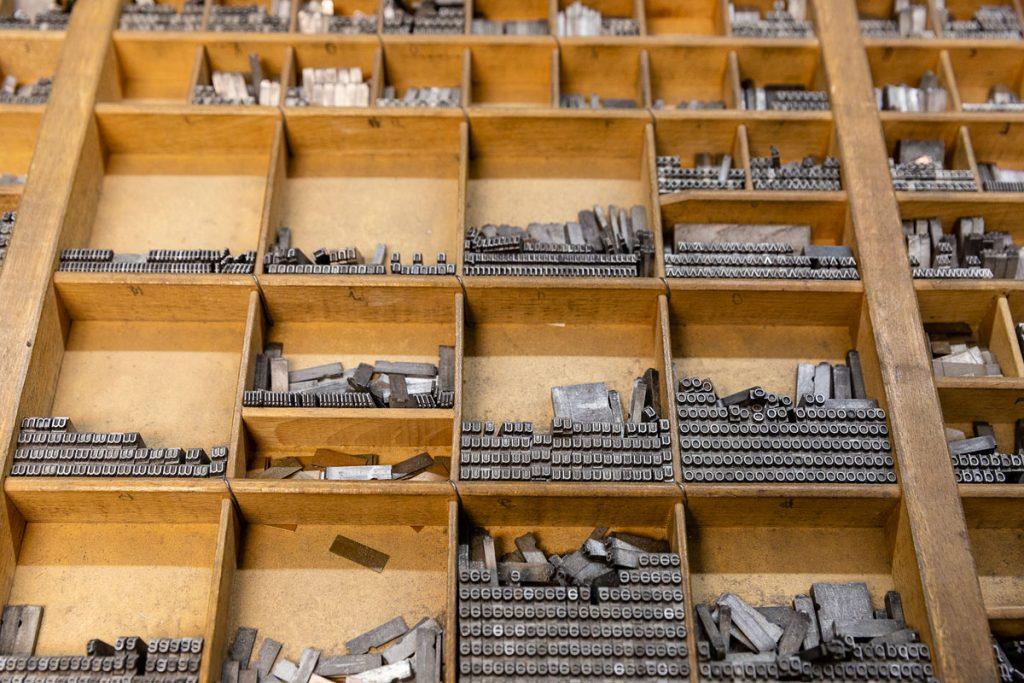 Buchstaben-Setzkasten | Foto: Giovanni Lo Curto