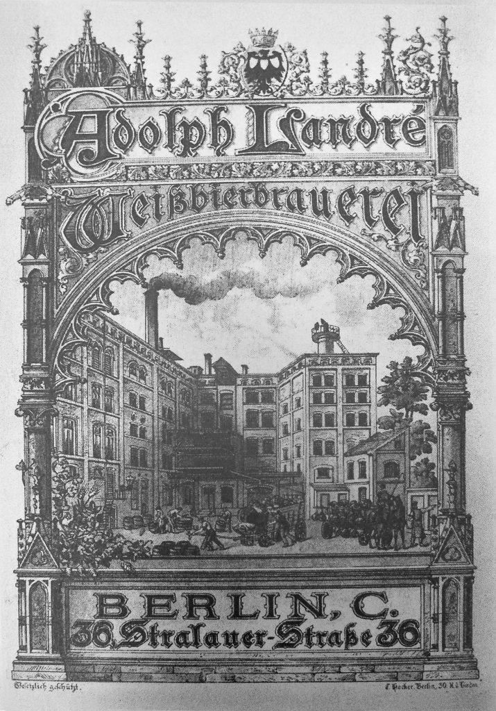 Hugenottische Weißbierbrauerei in Berlin |  Quelle: Der Hugenotte. Zeitschrift 1922