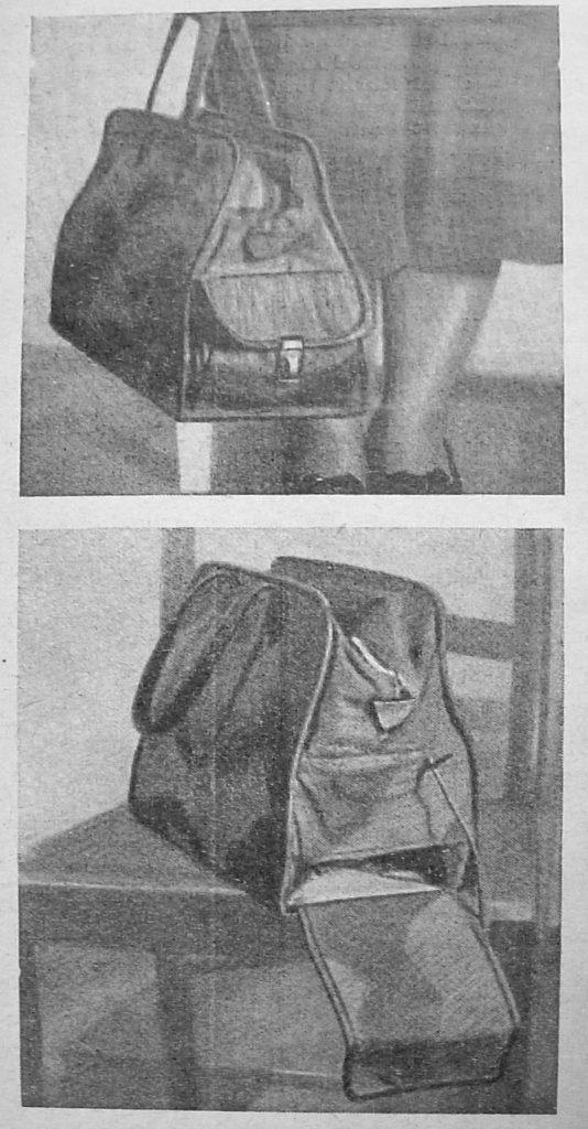 Es gab viele Verstecke für Schmuggelware in Taschen | Quelle: Propaganda-Zeitschrift