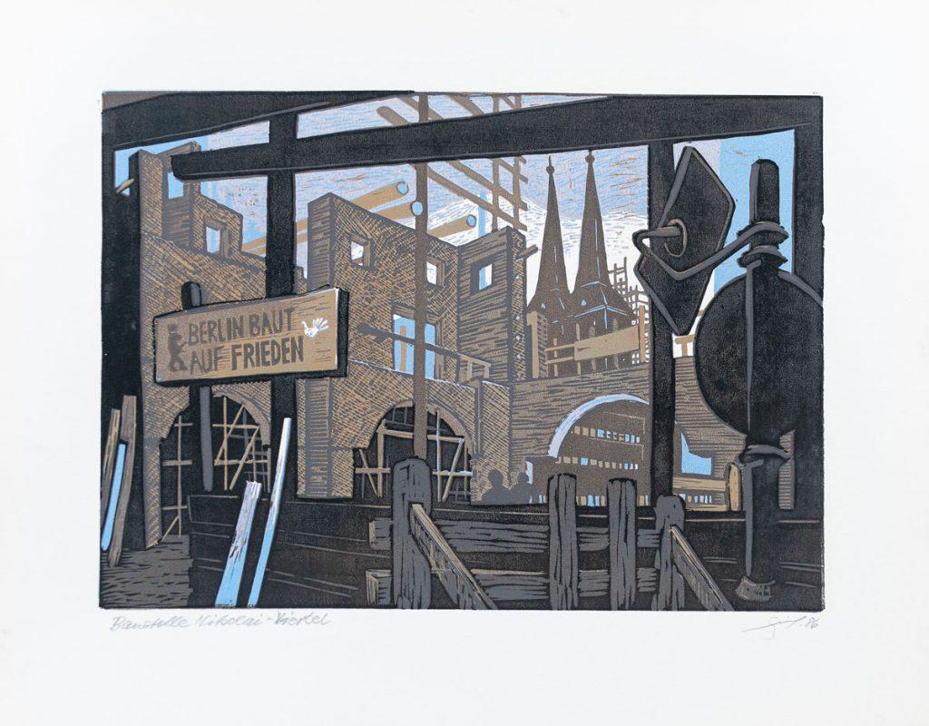 Berlin als Motiv in einem Werk des Künstlers Volkmar Götze | Foto: Giovanni Lo Curto