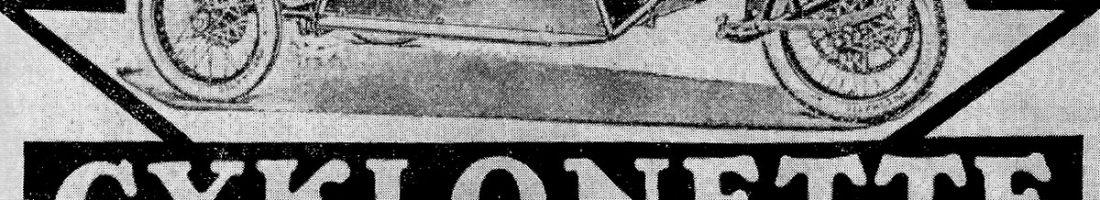 Cyclonette Quelle: Zeitungsanzeige 1920er Jahre