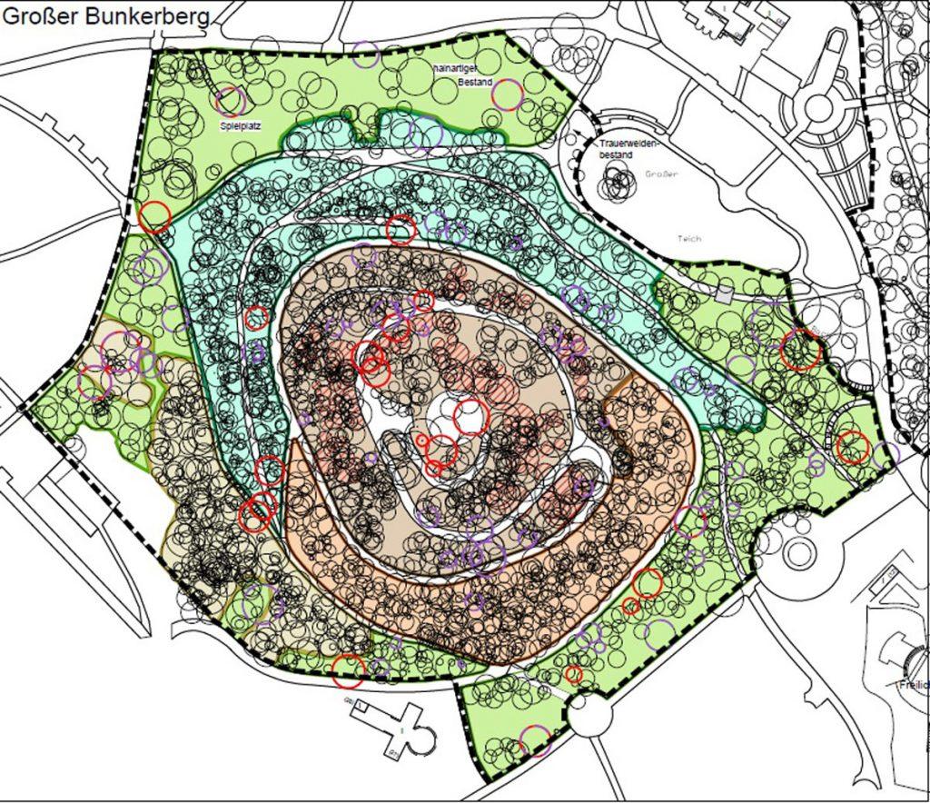 Bepflanzungsschema Bunkerberge in Friedrichshain | Quelle: www.berlin.de/ba-friedrichshain-kreuzberg/