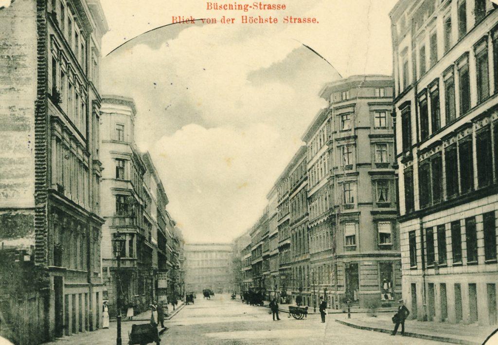 Berlin wird Metropole: Vor 99 Jahren entstand der Bezirk Friedrichshain: Büschingstraße | Quelle: Postkarte