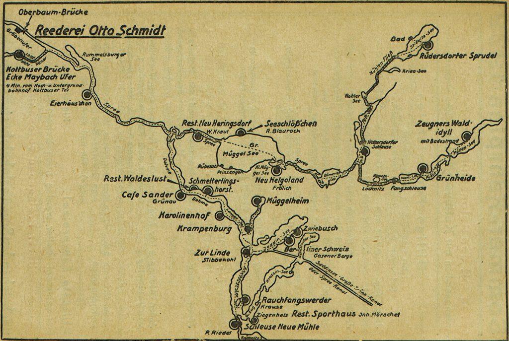 Dampfer-Routen von 1936 | Quelle: Werbebroschüre