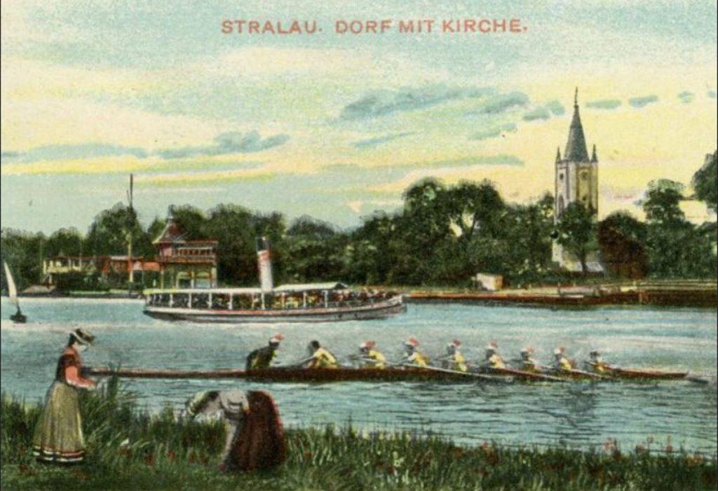Ausflugsdampfer in Stralau | Quelle: Postkarte