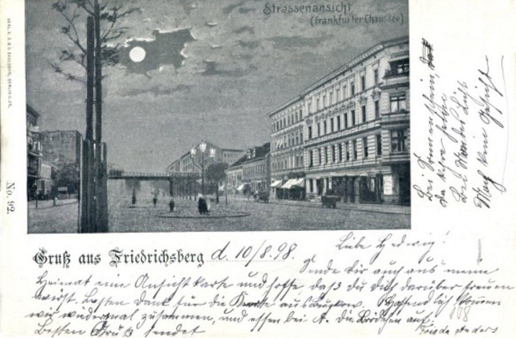Geschichten | Gruß aus Friedrichsberg (alte Postkarte von Frieda Anders an Hedwig aus dem Jahre 1998