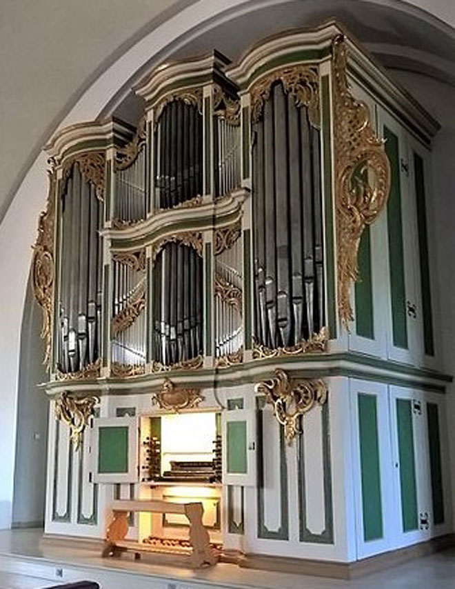Die Amalien-Orgel in Karlshorst. | Foto: Wikipedia Commons
