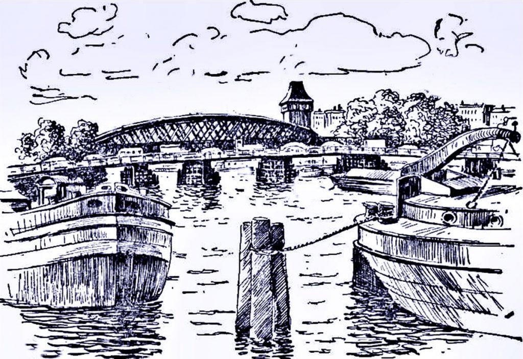 Zeichnung der Brücke | Quelle: Informationsbrochüre