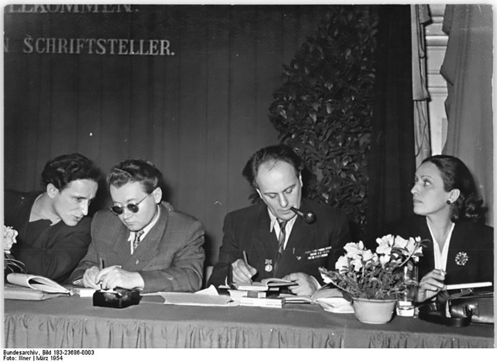 Konferenz junger Schriftsteller , 1954 | Foto: Illner, Bundesarchiv, Bild 183-23686-0003, Wiki Commons