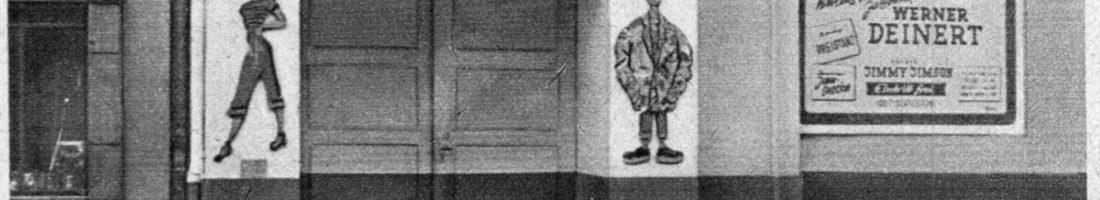 Der Boogie-Club in der Berliner Nürnberger Straßein den frühen 1950er Jahre. Quelle:Propagandazeitschrift der FDFJ