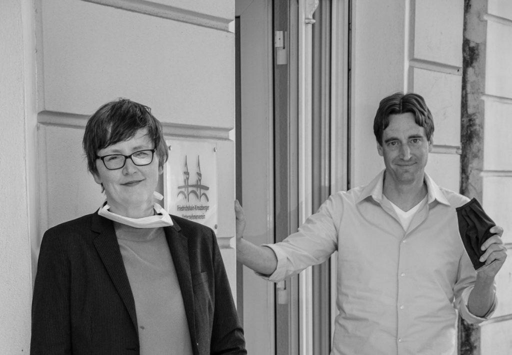 Zdenka Hruby und Cedrik Lutz vom Friedrichshain-Kreuzberger Unternehmerverein | Photo: Giovanni Lo Curto
