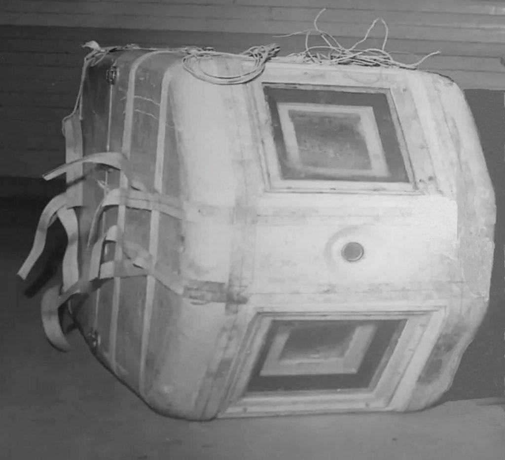 Kameragondel eines Spionageballons | Quelle: Propagandaschrift