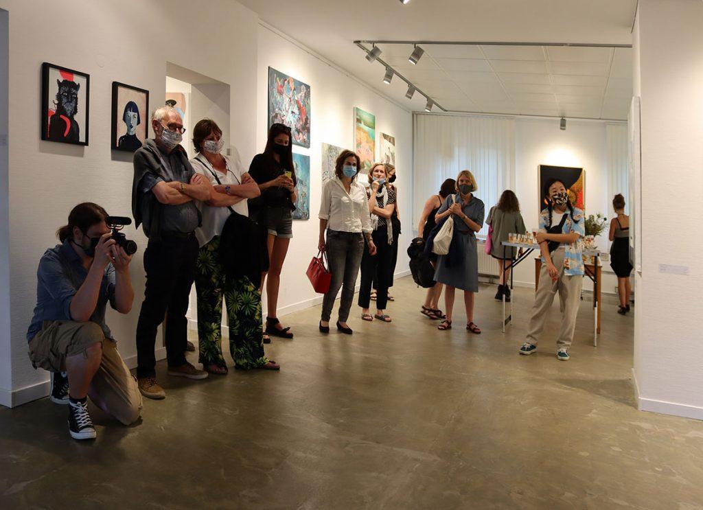 Ausstellungseröffnung in der INSELGALERIE Berlin | Foto: Ange Schmiert