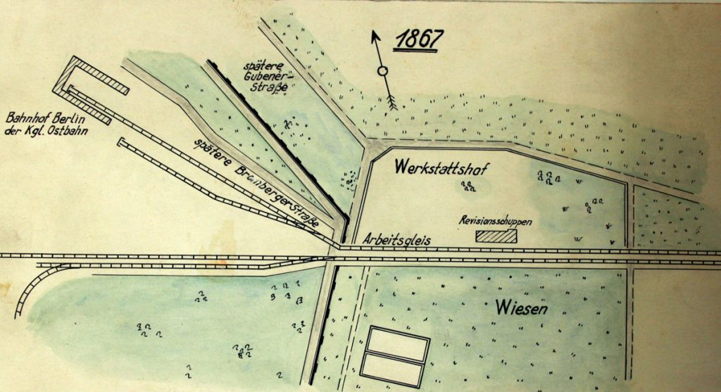 Stiftung Deutsches Technikmuseum Berlin. RAW-Plan, 1867   Foto: Historisches Archiv