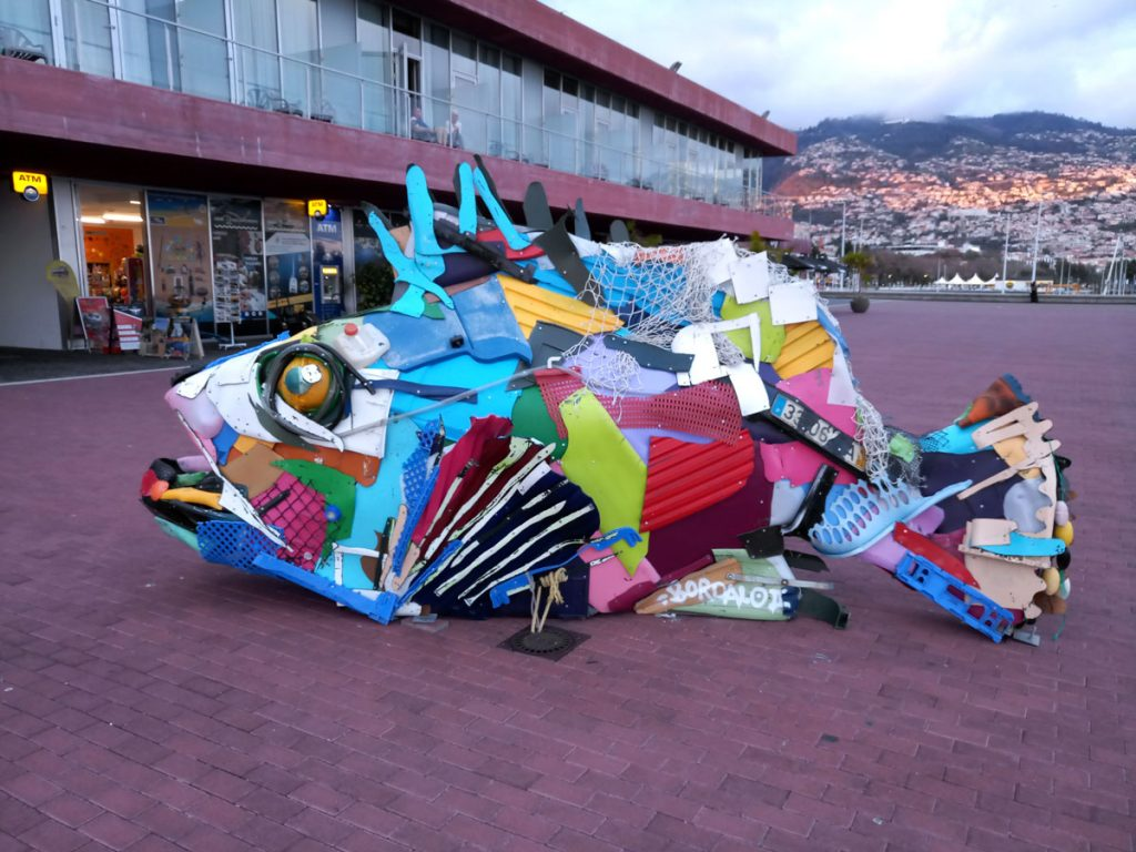 WORLD CLEANUP DAY Fisch aus Plastikmüll | Quelle: D.Krenz