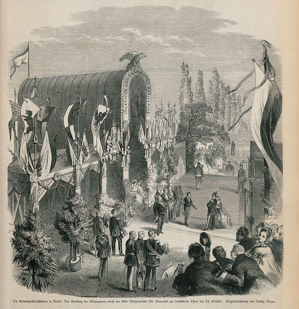 Empfangshalle | Stich nach einer Zeichnung von Ludwig Bürger in der Illustrierten Zeitung Leipzig vom 16. November 1867.