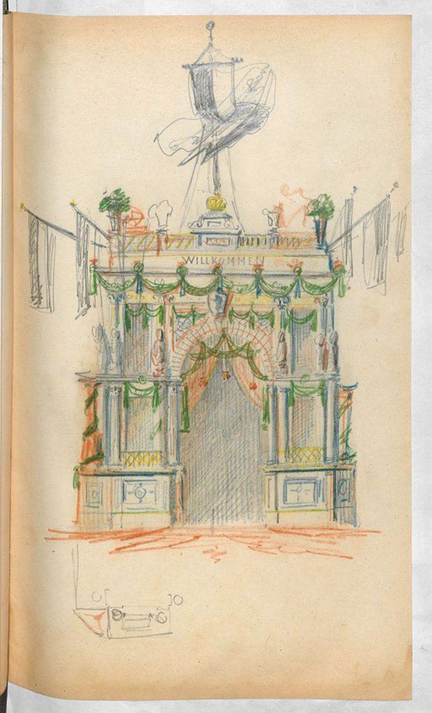 Zeichnung Ehrentor (Entwurf) | Quelle: Landesarchiv Berlin