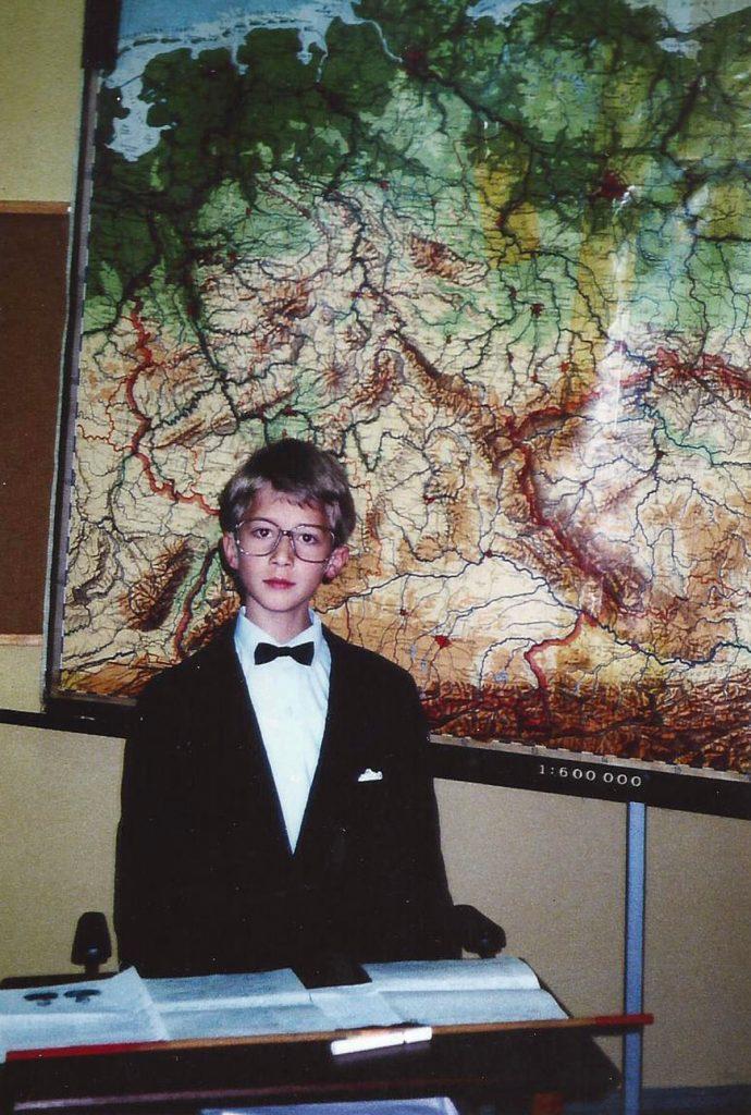Der junge Christopher Schleiff 1996   Foto: Privat