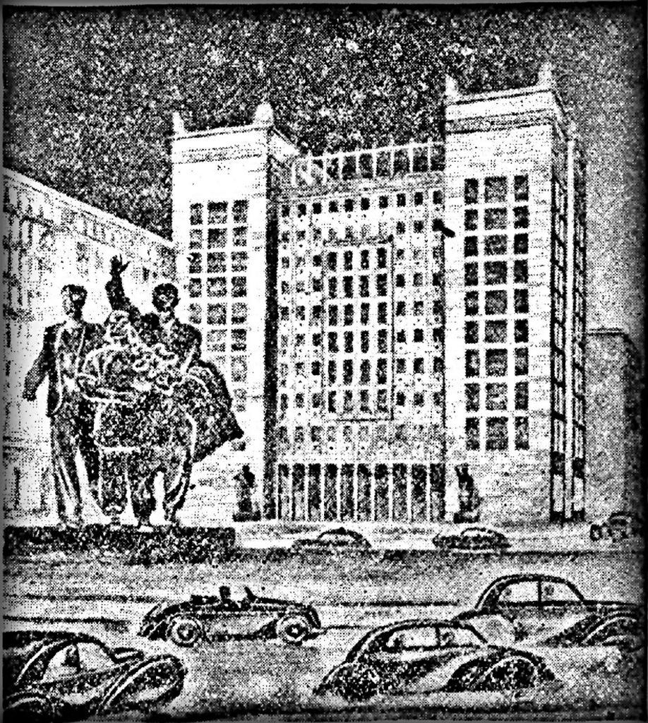 Entwurf Strausberger Platz | Quelle: Infobroschüre 1951