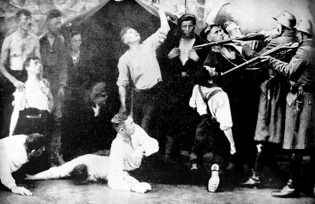 Raketen und Lautsprecher: Agitprop in Friedrichshain von Detlef Krenz   Quelle: Der Arbeiterfotograf 1931