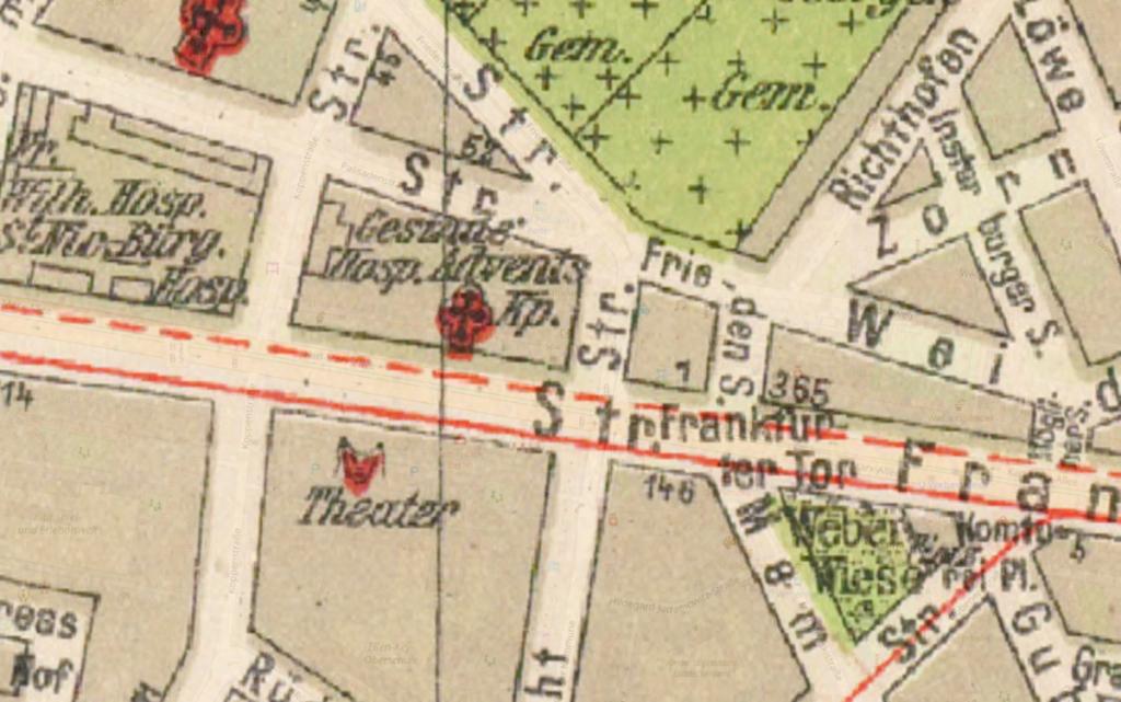 Grieben-Stadtplan von 1925 | Quelle: Wikimedia Commons