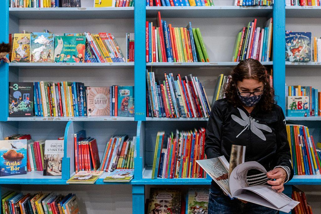 Stefanie Maerz von der der Buchhandlung Libelle | Foto: Giovanni Lo Curto