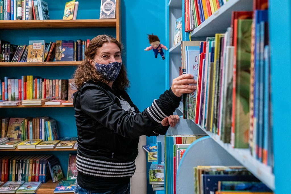 Stefanie Maerz von der Buchhandlung Libelle | Foto: Giovanni Lo Curto