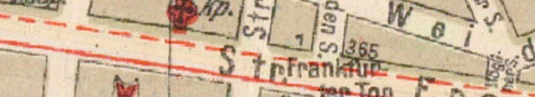 Grieben-Stadtplan mit Frankfurter Tor von 1925 | Quelle: Wikimedia Commons