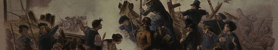 Barrikade 1848 - Gemälde von F. G. Nordmann | Quelle: Wikimedia Commons 4.0