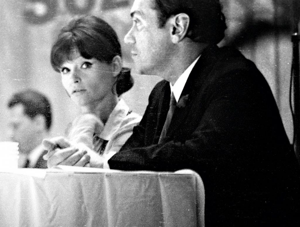 Angelica Domröse auf einer Veranstaltung 1968 im im RAW