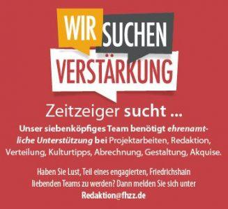 Friedrichshainer Zeitzeiger sucht Verstärkung