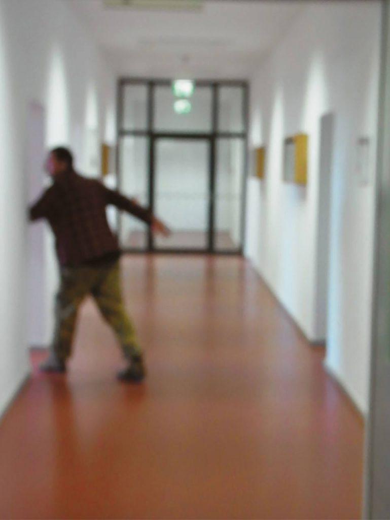 Selbst mit Gerhard Richter bei Erich Mielke, Rainer Görß, 2012, Berlin Lichtenberg, MFS Zentrale. Foto: Ania Rudolph